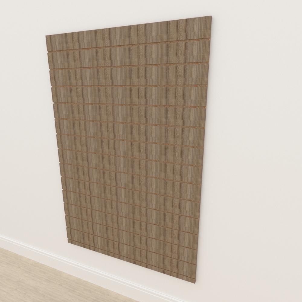 Painel canaletado 18mm amadeirado escuro altura 180 cm comp 120 cm