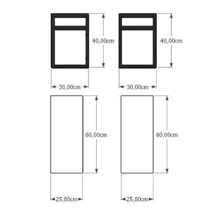 Mesa lateral sofá industrial aço cor preto prateleiras 30 cm cor preto modelo ind02pml
