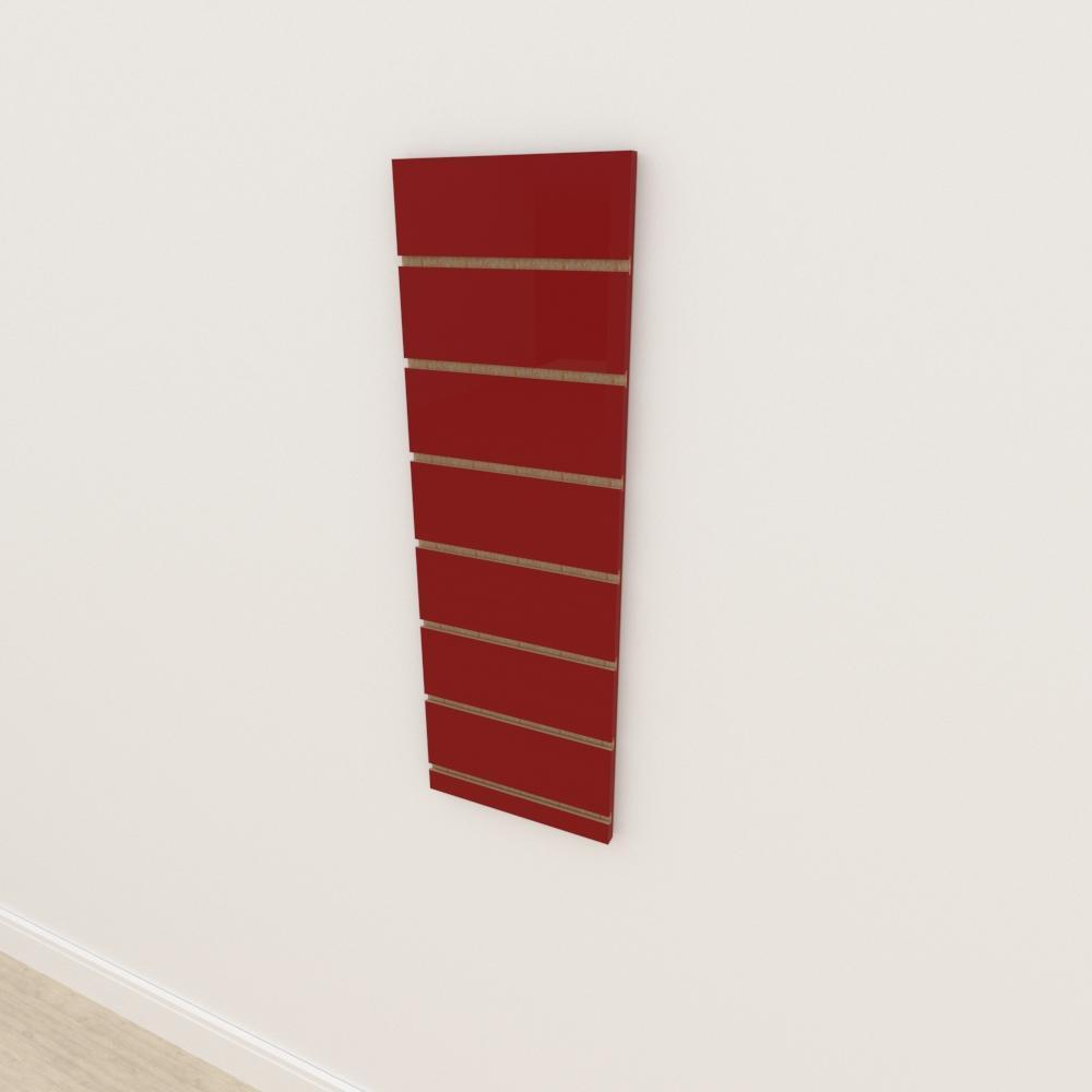 Painel canaletado 18mm Vermelho Escuro Tx altura 90 cm comp 30 cm