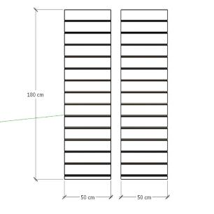 Kit 2 Painel canaletado para pilar branco 2 peças 50(L)x180(A)cm