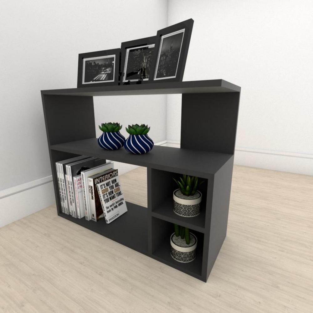Mesa lateral para sofá formato simples em mdf Preto
