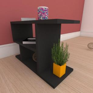 Kit com 2 Mesa de cabeceira compacta em mdf preto