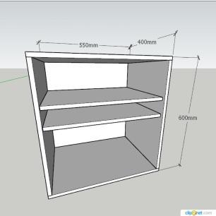 Mesa de Cabeceira formato S slim em mdf Branco