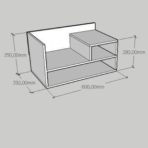 Mesa de cabeceira moderno compacto em mdf branco