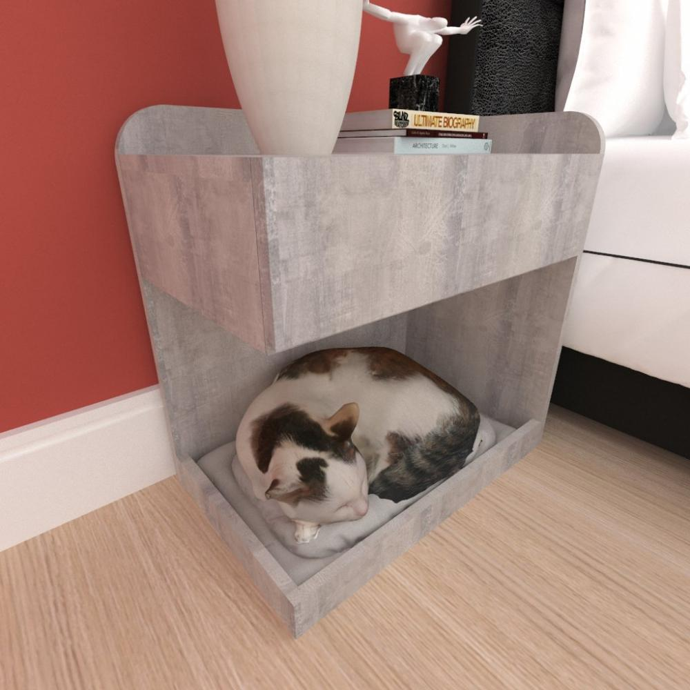 Casinha caminha criado mudo gato gaveta mdf cor Rustico