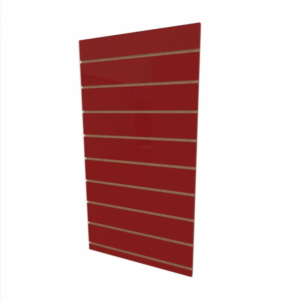 Expositor canaletado 18mm Vermelho Escuro Tx altura 120 cm comp 60 cm