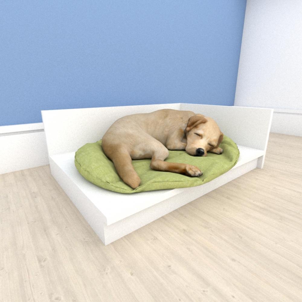 Mesa de cabeceira caminha bercinho para cachorro em mdf Branco