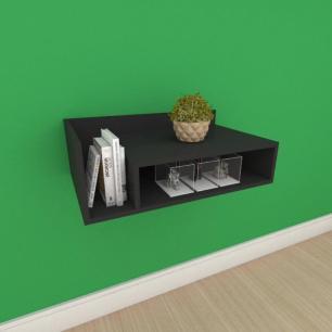 Mesa de cabeceira moderno simples em mdf preto