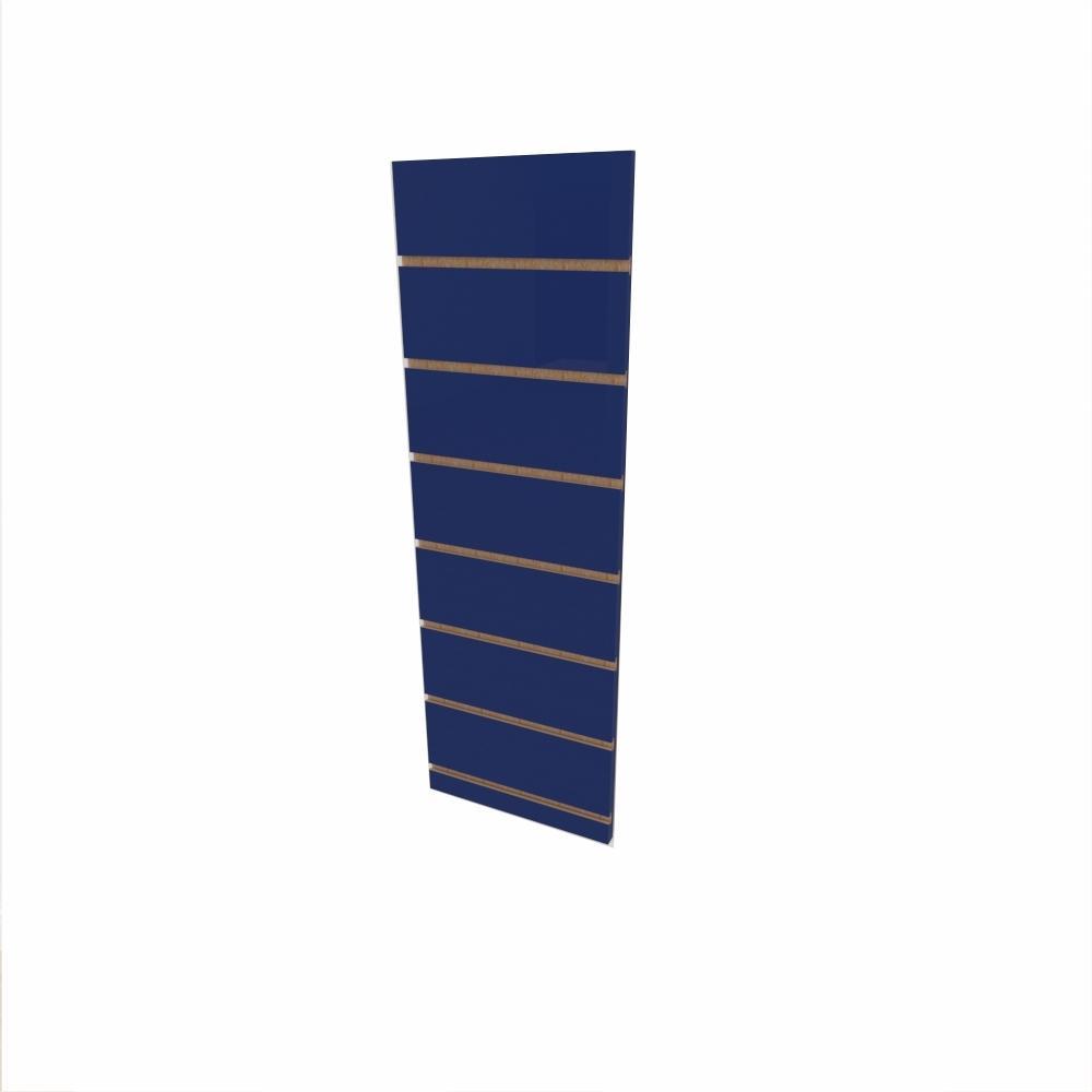 Expositor canaletado 18mm Azul Escuro Soft altura 90 cm comp 30 cm