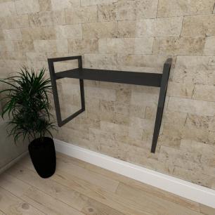 Mini estante industrial para sala aço cor preto prateleiras 30cm cor preto modelo ind03peps