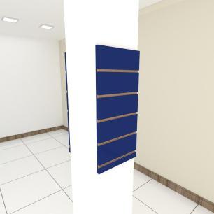 Kit 2 Painel canaletado para pilar azul escuro 2 peças 30(L)x60(A)cm