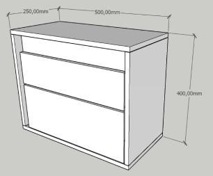 Mesa de cabeceira moderna amadeirado escuro com preto