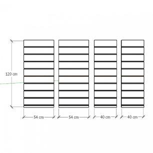 Kit 4 Painel canaletado para pilar preto 2 peças 54(L)x120(A)cm + 2 peças 40(L)x120(A)cm