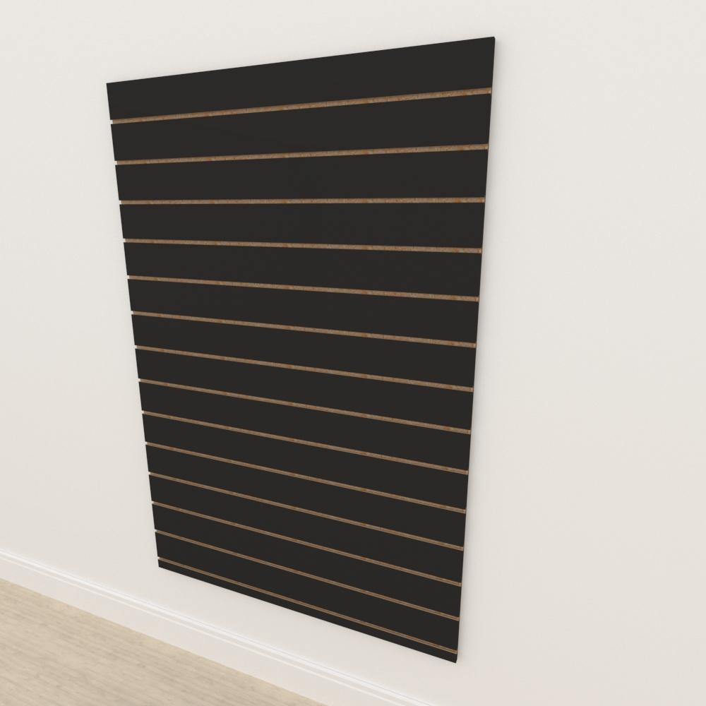 Painel canaletado 18mm Preto Texturizado altura 180 cm comp 120 cm