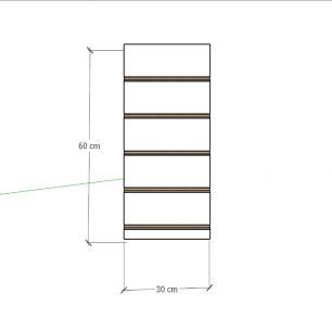 Painel canaletado para pilar cinza cristal 1 peça 30(L)x60(A)cm