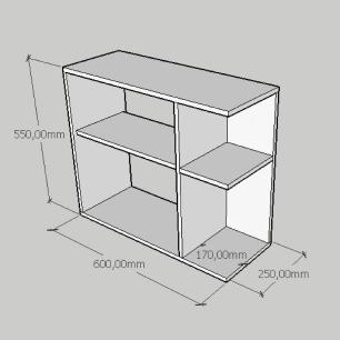 Kit com 2 Mesa de cabeceira simples com prateleira em mdf amadeirado