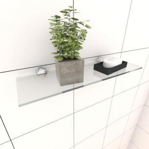 Kit com uma Prateleira para banheiro 30 cm vidro temperado