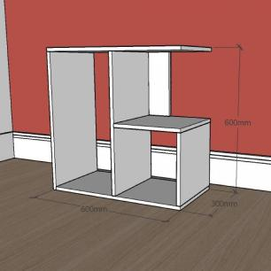 Mesa lateral para sofá formato slim em mdf Branco