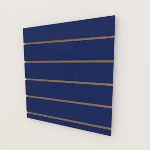 Painel canaletado 18mm Azul Escuro Soft altura 60 cm comp 60 cm