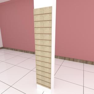 Painel canaletado para pilar amadeirado claro 1 peça 40(L)x180(A)cm
