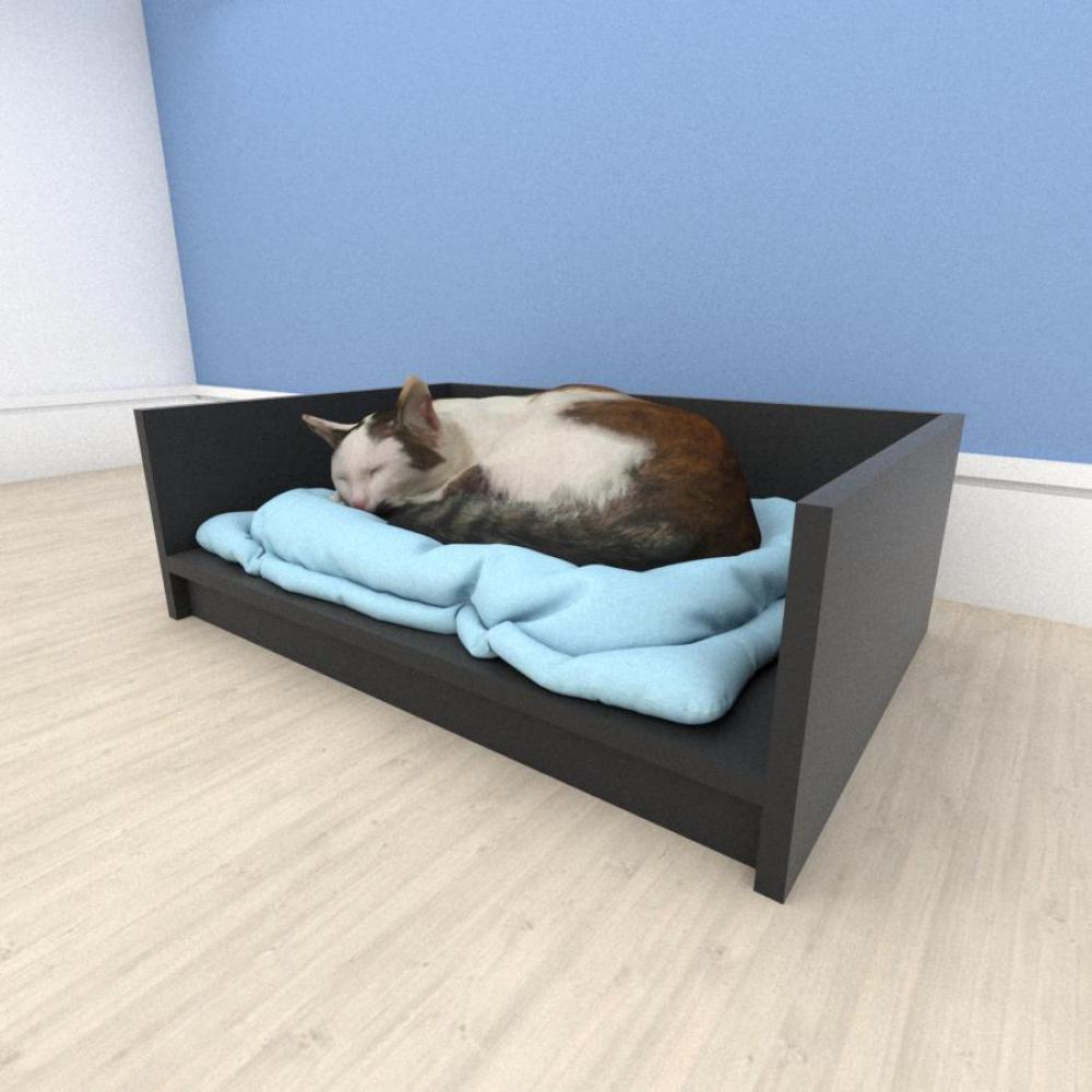 bercinho casinha para Gato em mdf Preto
