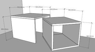 Mesa de centro moderna rustico