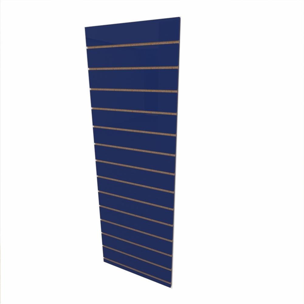 Expositor canaletado 18mm Azul Escuro Soft altura 180 cm comp 60 cm