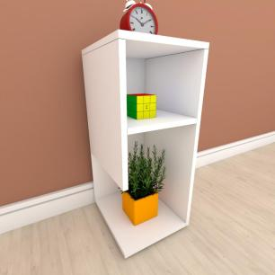 Estante escritório formato simples em mdf Branco