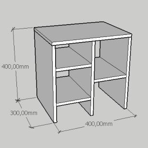 Kit com 2 Mesa de cabeceira minimalista em mdf cinza