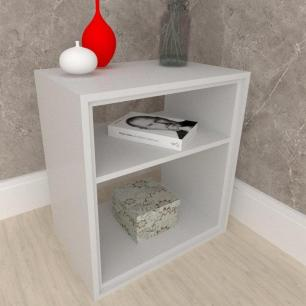 Mesa lateral, mesa de canto, em mdf Cinza