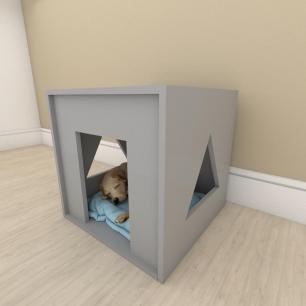 camapet para cachorro em mdf Cinza