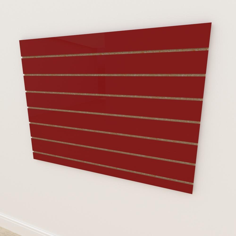 Painel canaletado 18mm Vermelho Escuro Tx altura 90 cm comp 120 cm