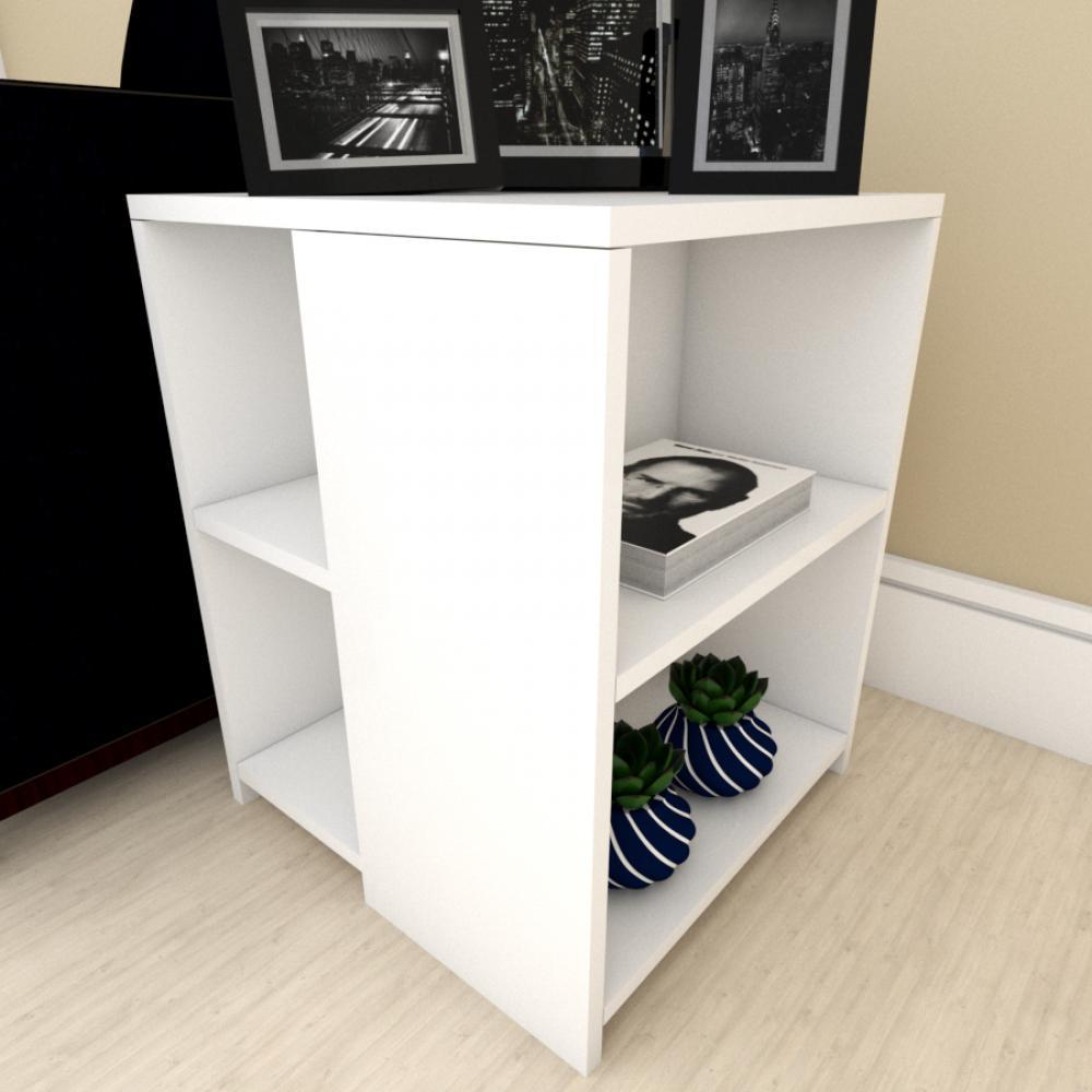 kit com 2 kit com 2 Mesa de cabeceira para sofá moderna Branco