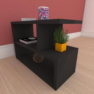 Kit com 2 Mesa de cabeceira slim em mdf preto
