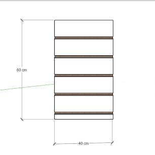 Painel canaletado para pilar preto 1 peça 40(L)x60(A)cm