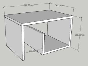 Mesa de centro moderna amadeirado escuro