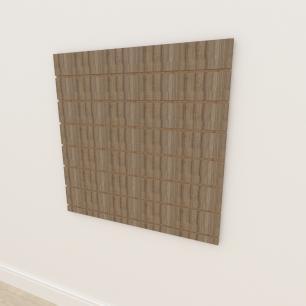 Painel canaletado 18mm amadeirado escuro altura 90 cm comp 90 cm