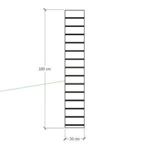 Painel canaletado para pilar branco 1 peça 30(L)x180(A)cm