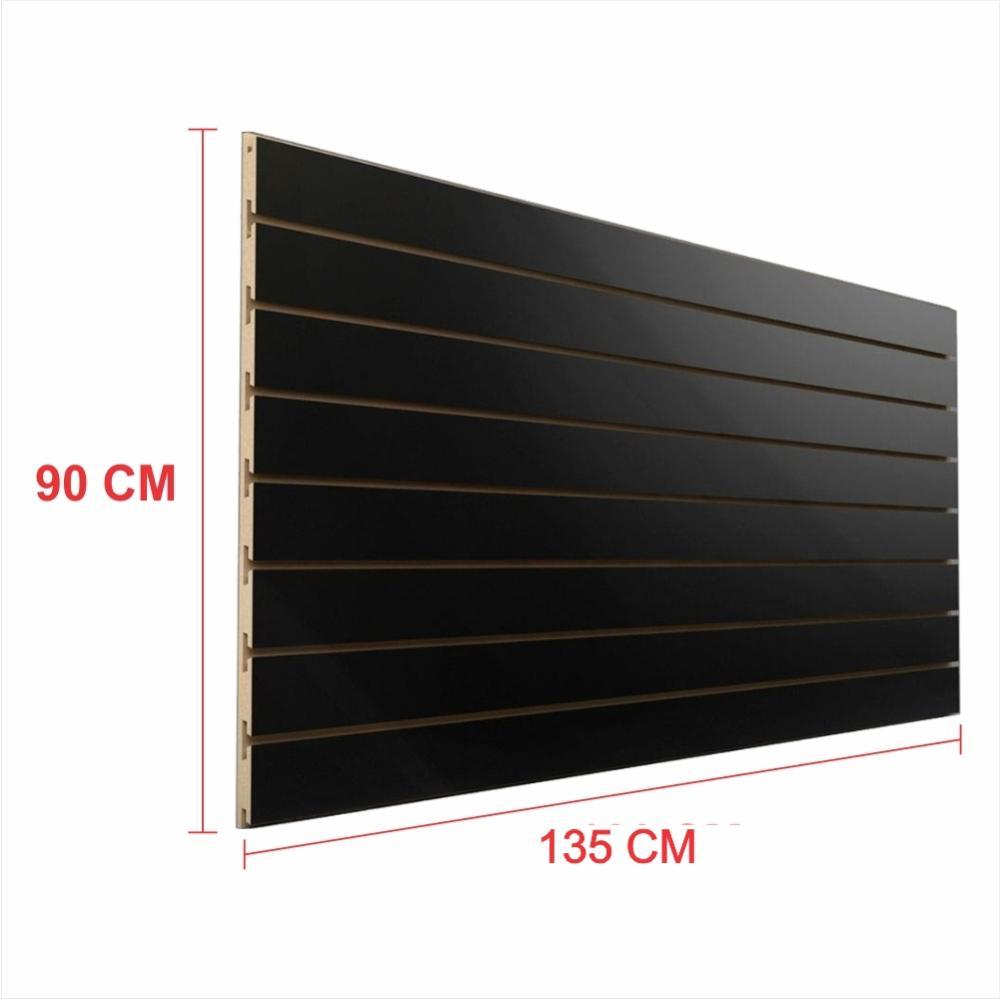 Expositor painel canaletado 18mm preto altura 90 cm comp 135 cm
