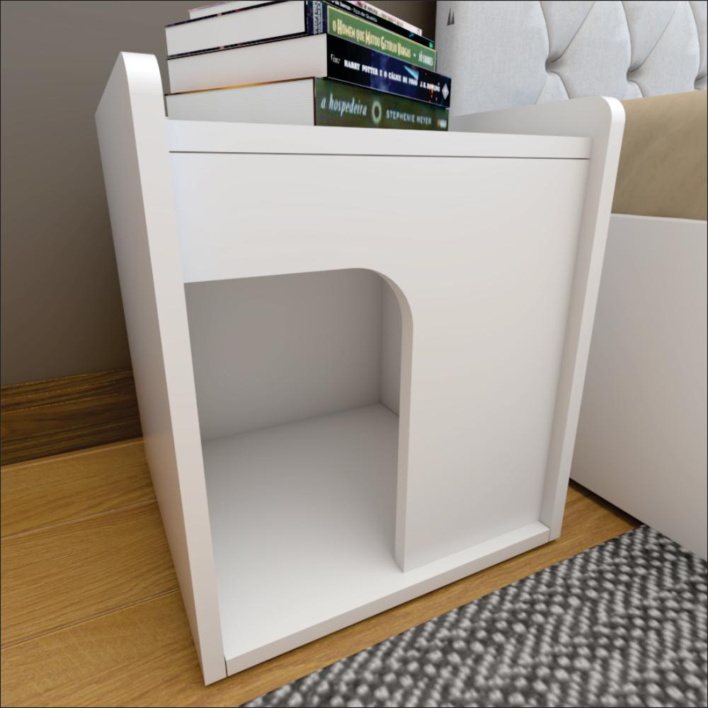 Mesa de Cabeceira Pet Branco