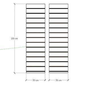 Kit 2 Painel canaletado para pilar cinza cristal 2 peças 50(L)x180(A)cm