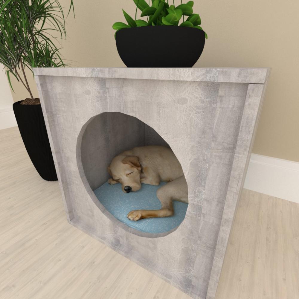 Mesa de cabeceira caminha para cachorro cão mdf Rustico