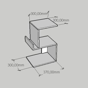 Kit com 2 Mesa de cabeceira com suporte para livros em mdf branco