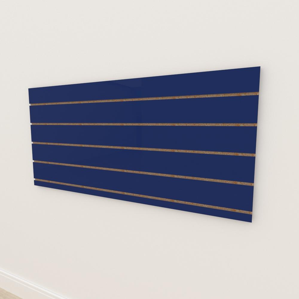 Painel canaletado 18mm Azul Escuro Soft altura 60 cm comp 135 cm