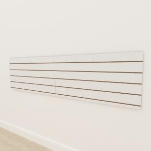 Painel canaletado 18mm Branco Texturizado altura 60 cm comp 240 cm