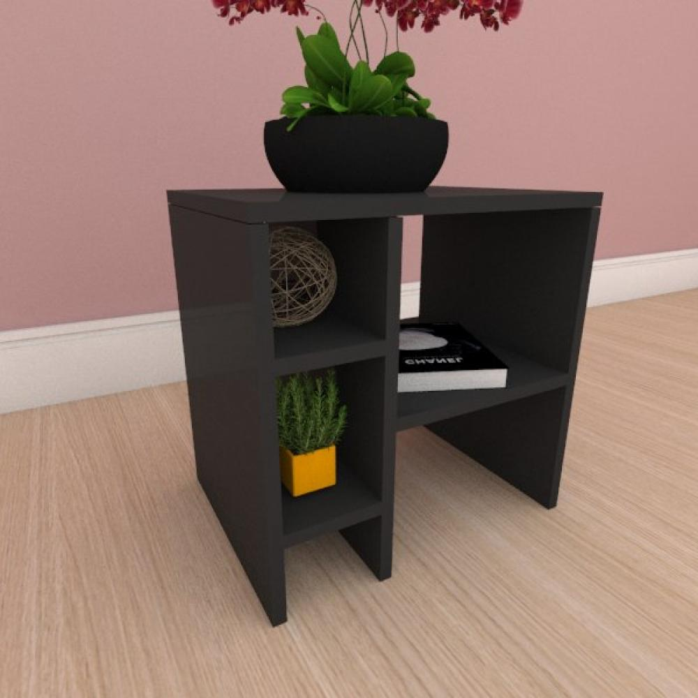 Mesa Lateral simples em mdf preto