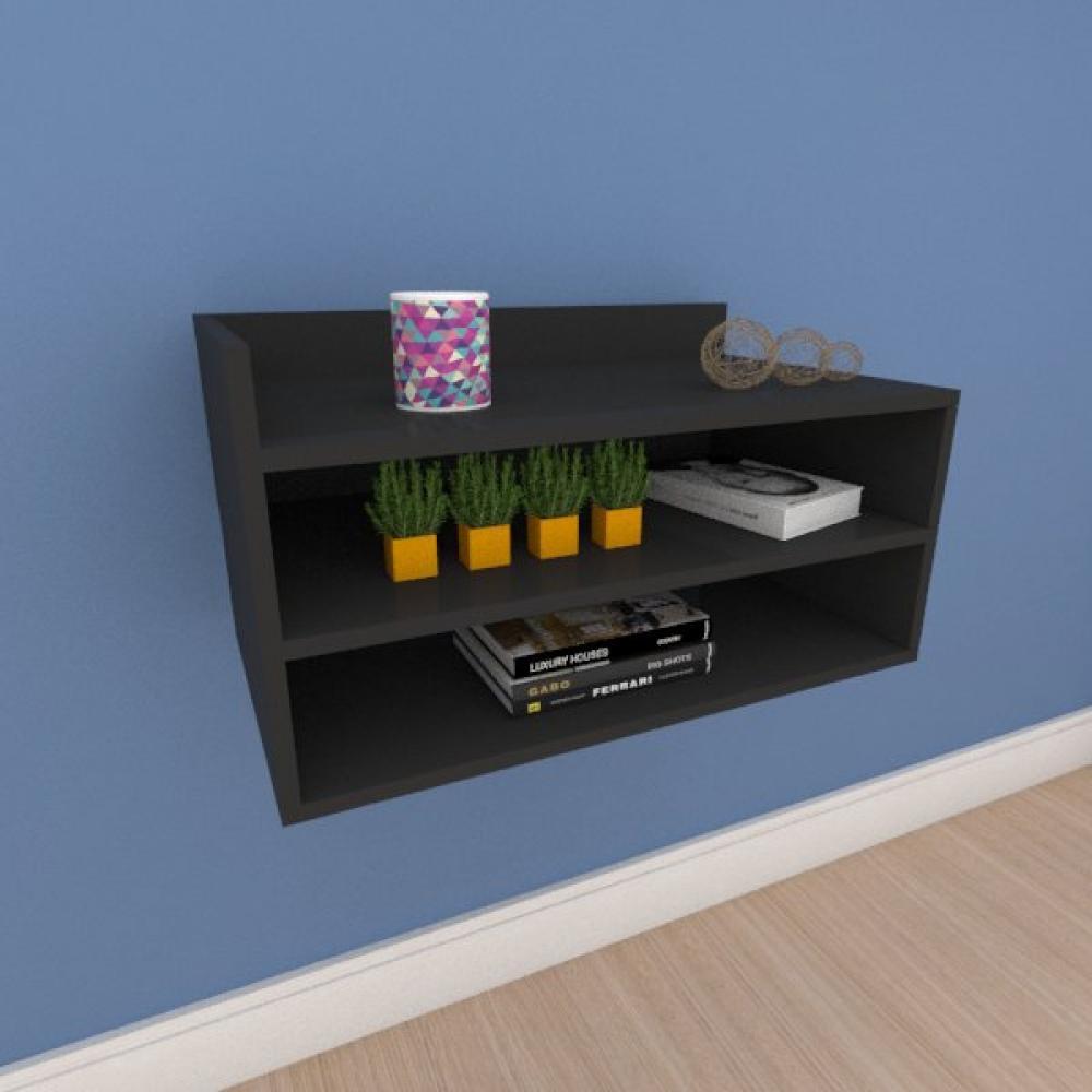 Mesa de cabeceira moderno minimalista em mdf preto