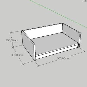 Mesa de cabeceira caminha casinha pequeno cachorro em mdf amadeirado