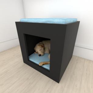 Mesa de cabeceira camapet para cachorro em mdf Preto
