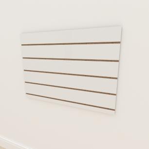 Painel canaletado 18mm Branco Texturizado altura 60 cm comp 90 cm